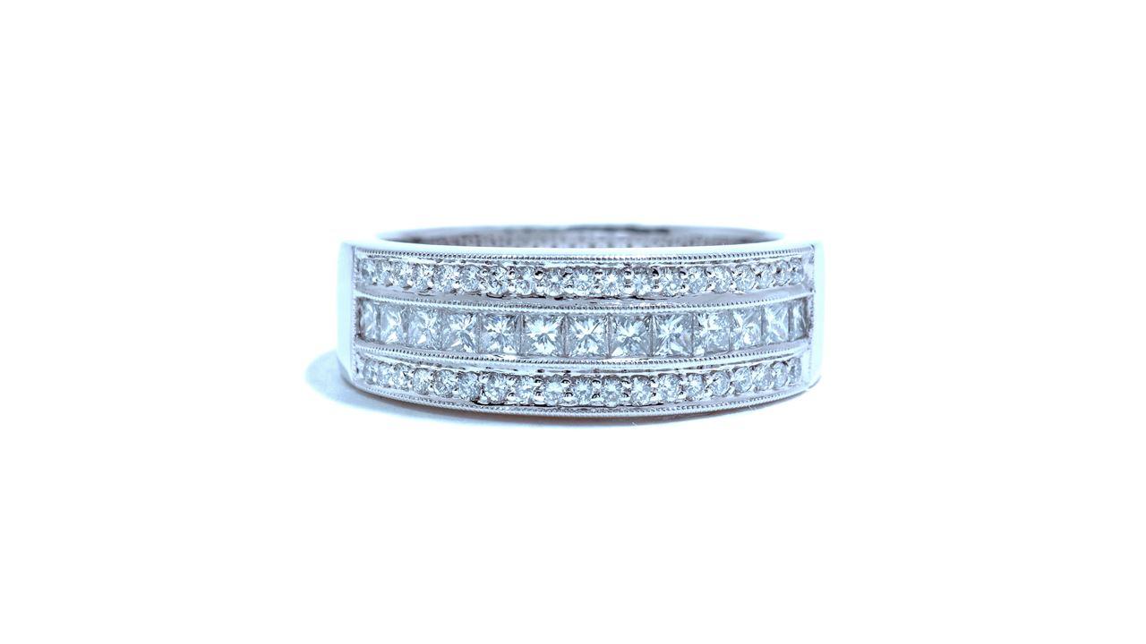 32141 - 0.70 ct Wide Princess Cut Diamond Band  at Ascot Diamonds