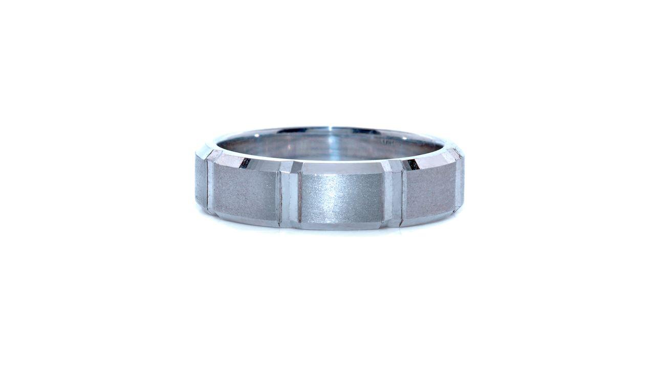 33774 - Men's Beveled Edge Wedding Ring at Ascot Diamonds