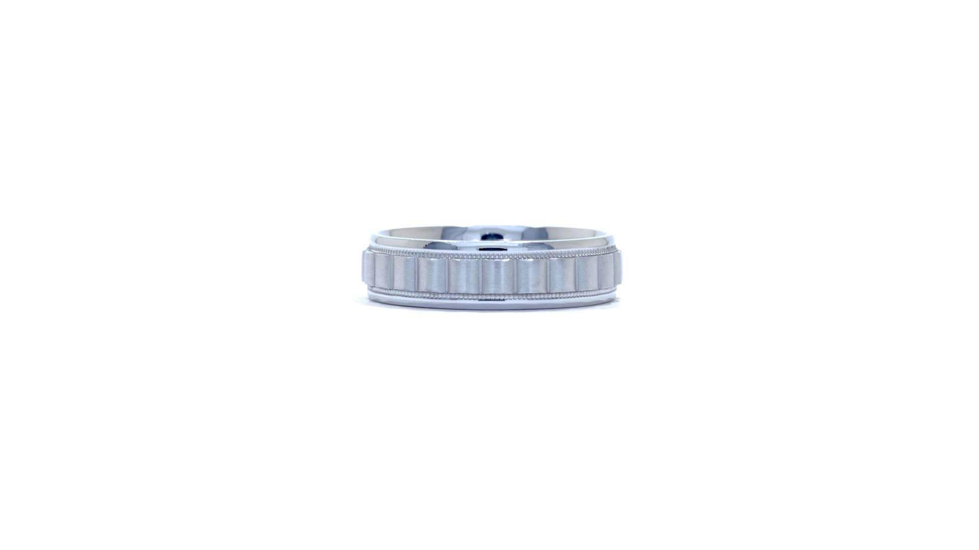 35595 - Fluted Men's Wedding Band at Ascot Diamonds