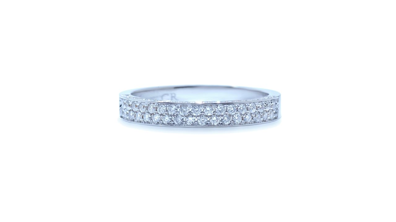 j5127 - Micropave Platinum Diamond Wedding Band  at Ascot Diamonds