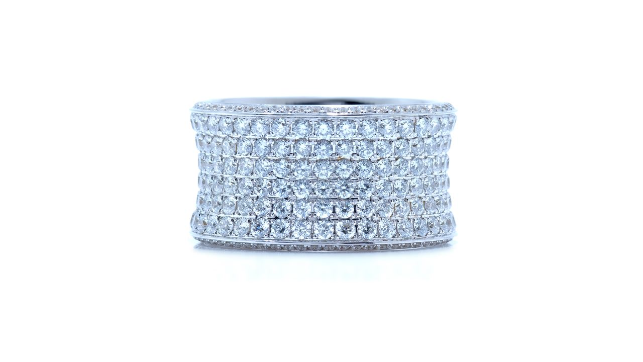 j6887 - Custom Wide Eternity Diamond Band 3.56 ct. tw. (in 18k white gold) at Ascot Diamonds