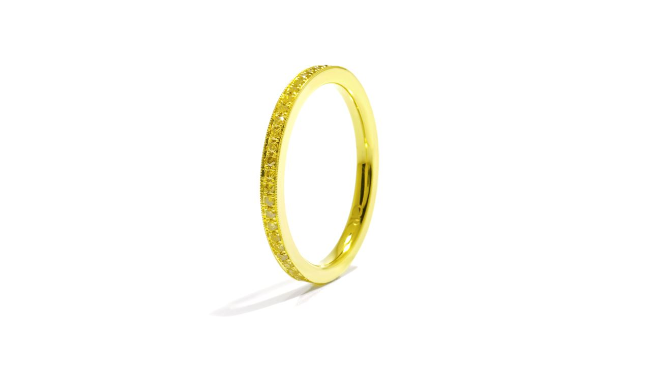 j9810 - Bead-set Diamond Wedding Band 0.22 ct. tw. (in 18k yellow gold) at Ascot Diamonds