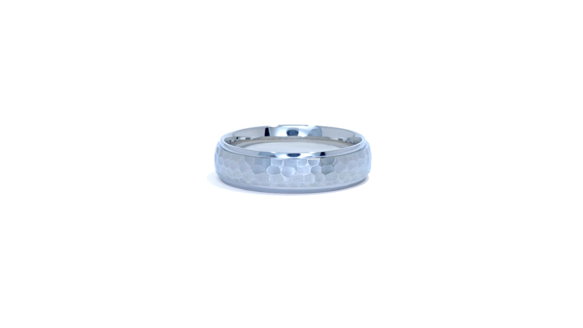 ja1115 - Hammered Men's Wedding Band at Ascot Diamonds