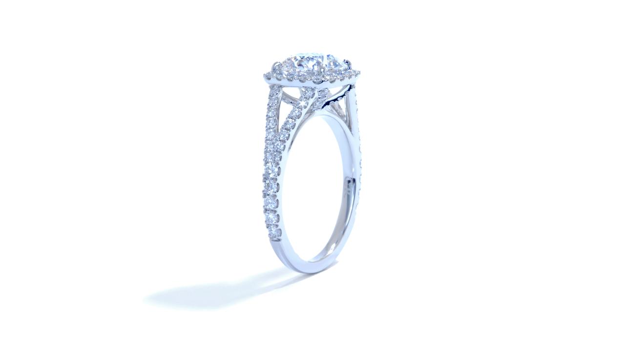 ja1696_lgd1490 - 1.8ct. Halo Split Diamond Ring at Ascot Diamonds