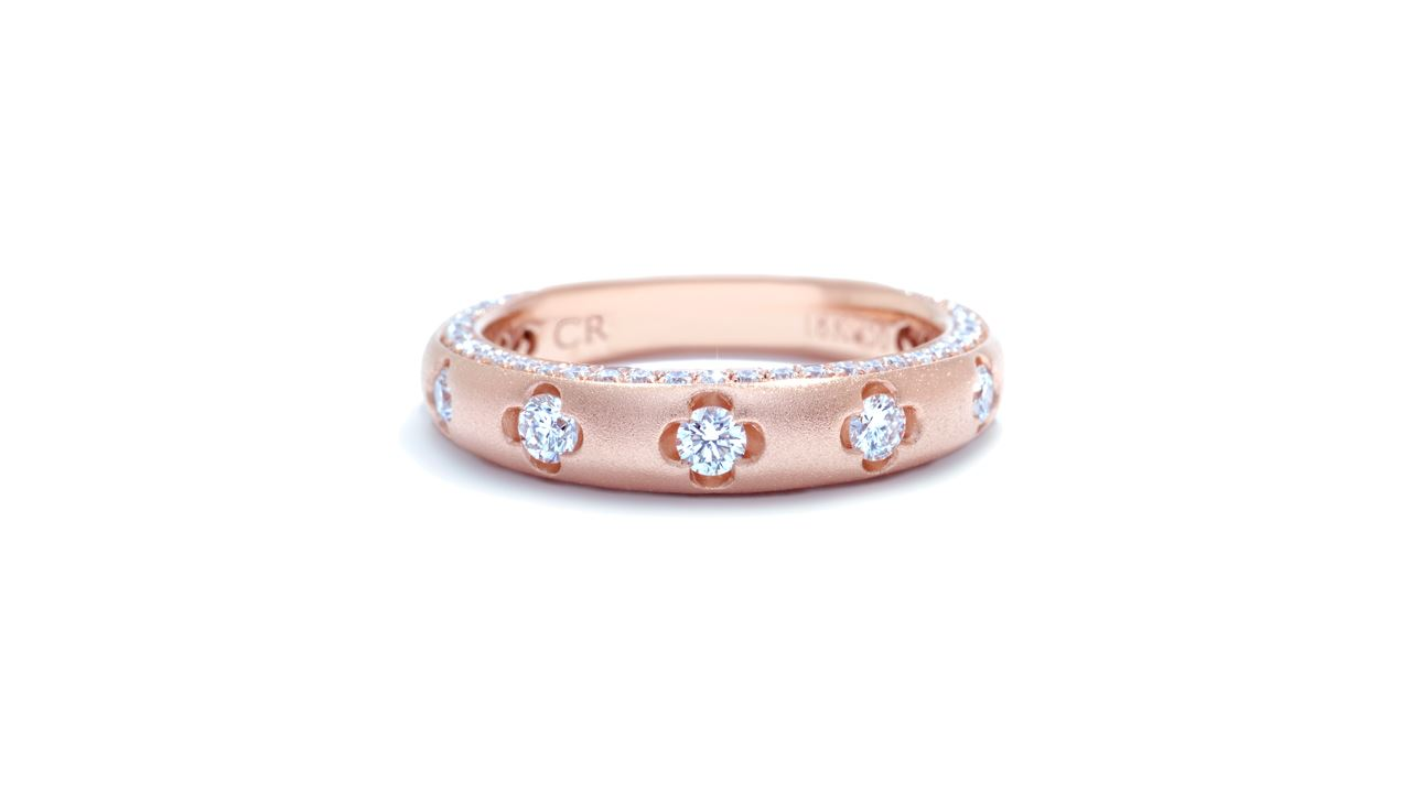 ja1946 - Floral Diamond Stacking Ring 0.76 ct. tw. (in 18k rose gold) at Ascot Diamonds