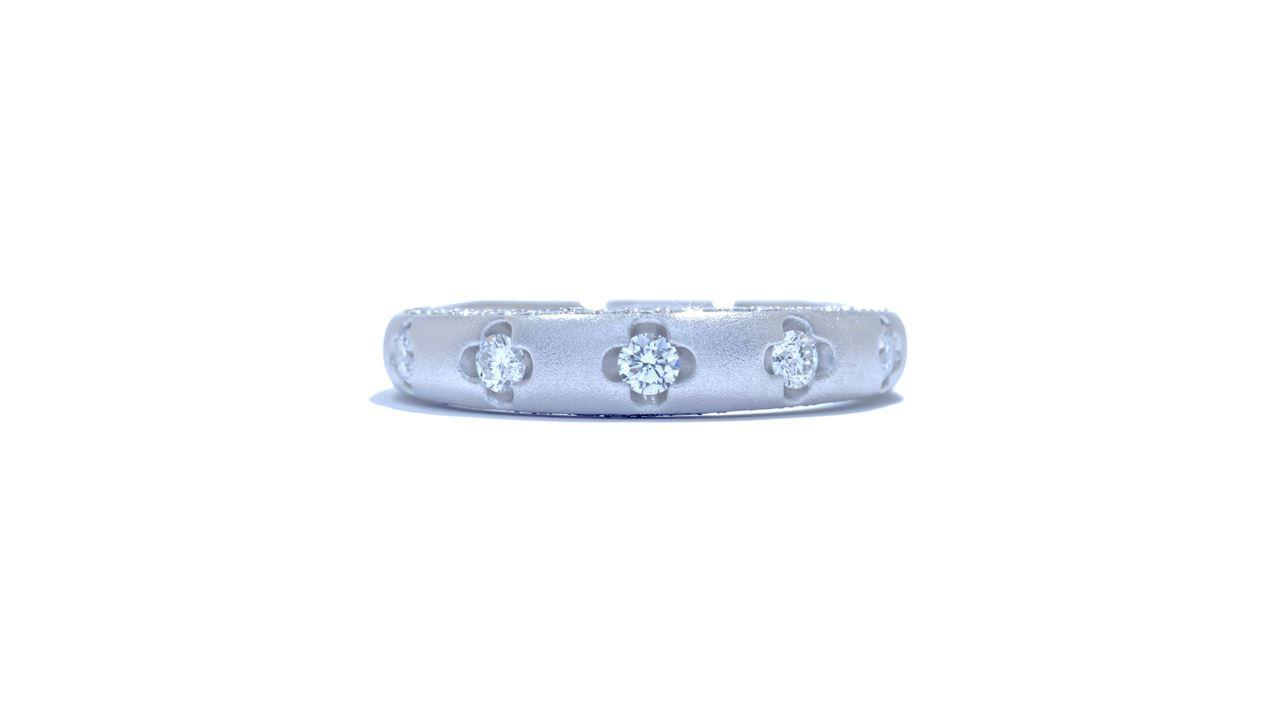 ja1948 - Floral Diamond Stacking Ring 0.76 ct. tw. (in 18k white gold) at Ascot Diamonds