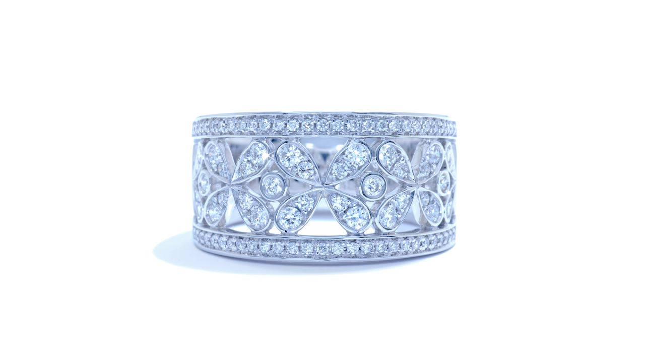 ja1951 - Floral Anniversary Diamond Band 0.61 ct. tw. (in 18k white gold) at Ascot Diamonds