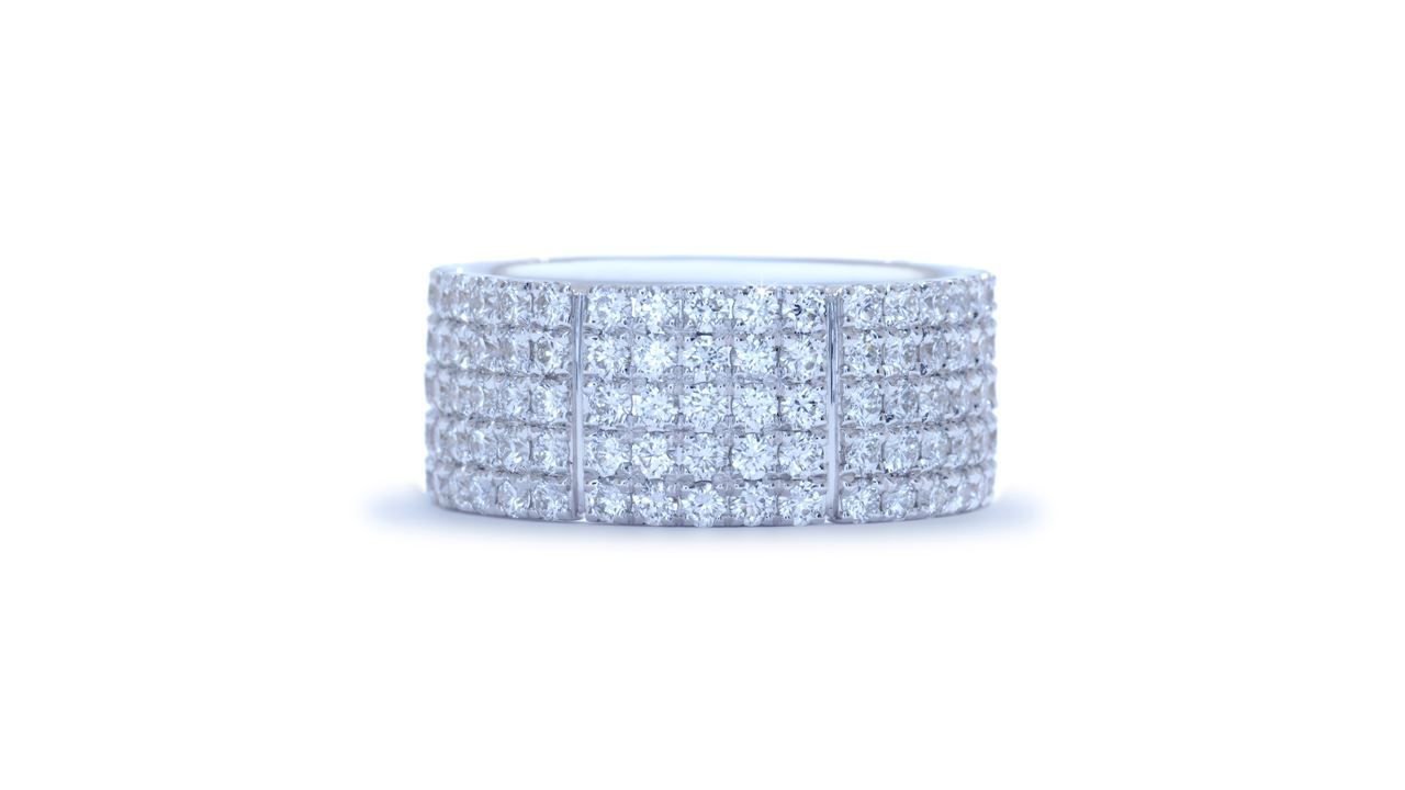 ja2309 - Modern Diamond Anniversary Ring 1.92 ct. tw. (in 18k white gold) at Ascot Diamonds