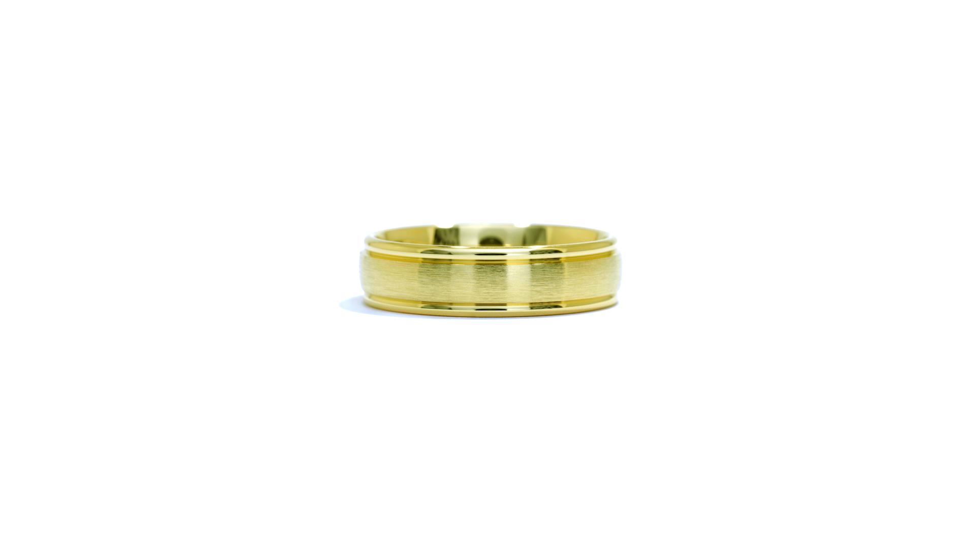 ja2909 - Satin Finish 14k Yellow Gold Band at Ascot Diamonds