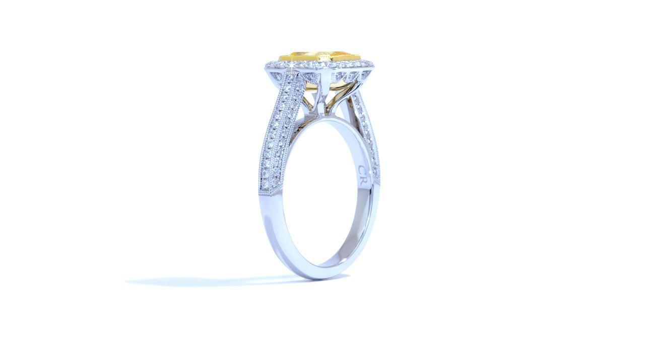 ja3081_d3697 - 2.07ct. Vintage Halo Diamond Engagement Ring at Ascot Diamonds