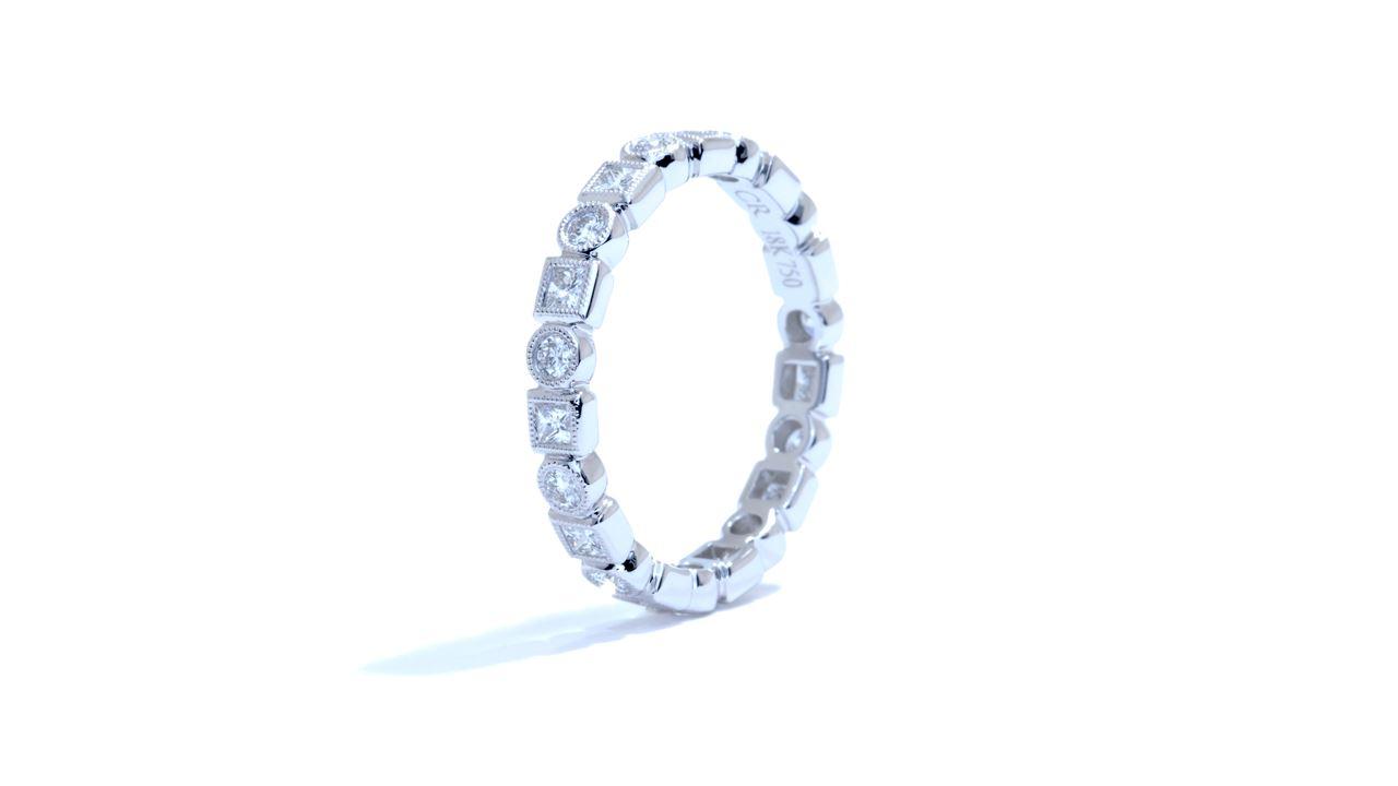 ja3217 -  Bezel-Set Diamond Stackable Band 0.75 ct. at Ascot Diamonds