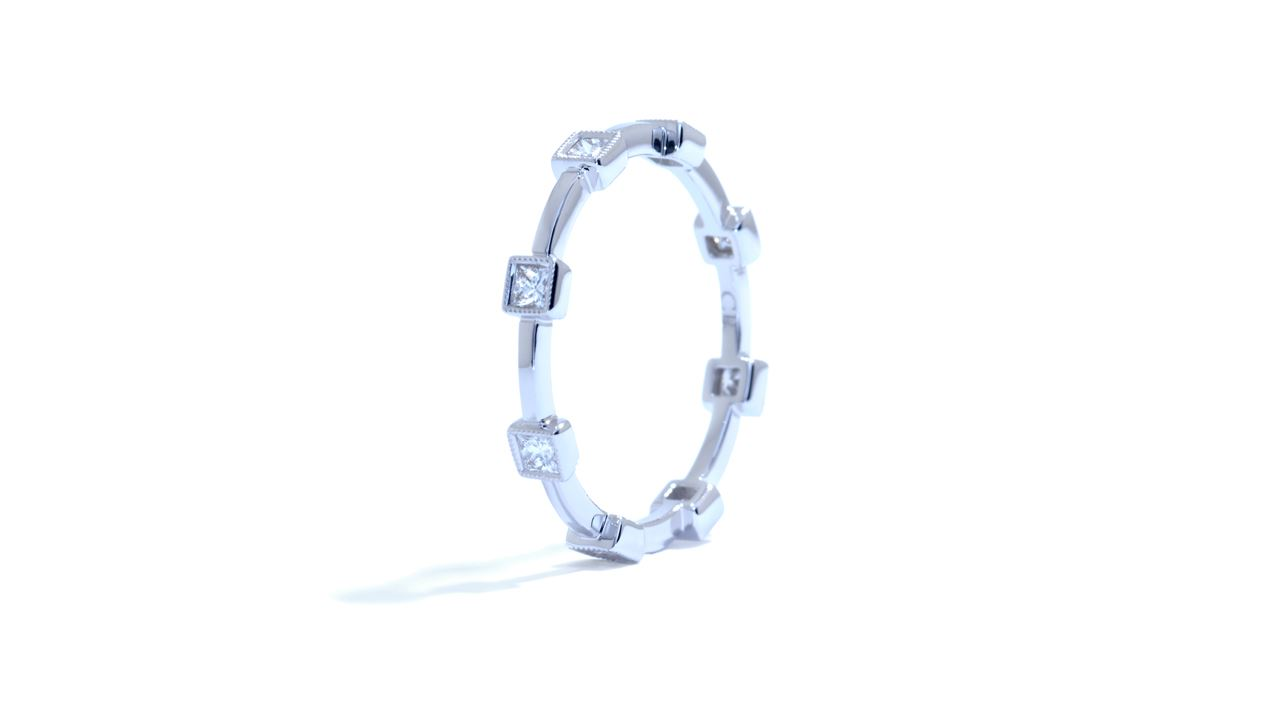 ja3243 - Delicate Princess Cut Diamond Band 0.33 ct. at Ascot Diamonds