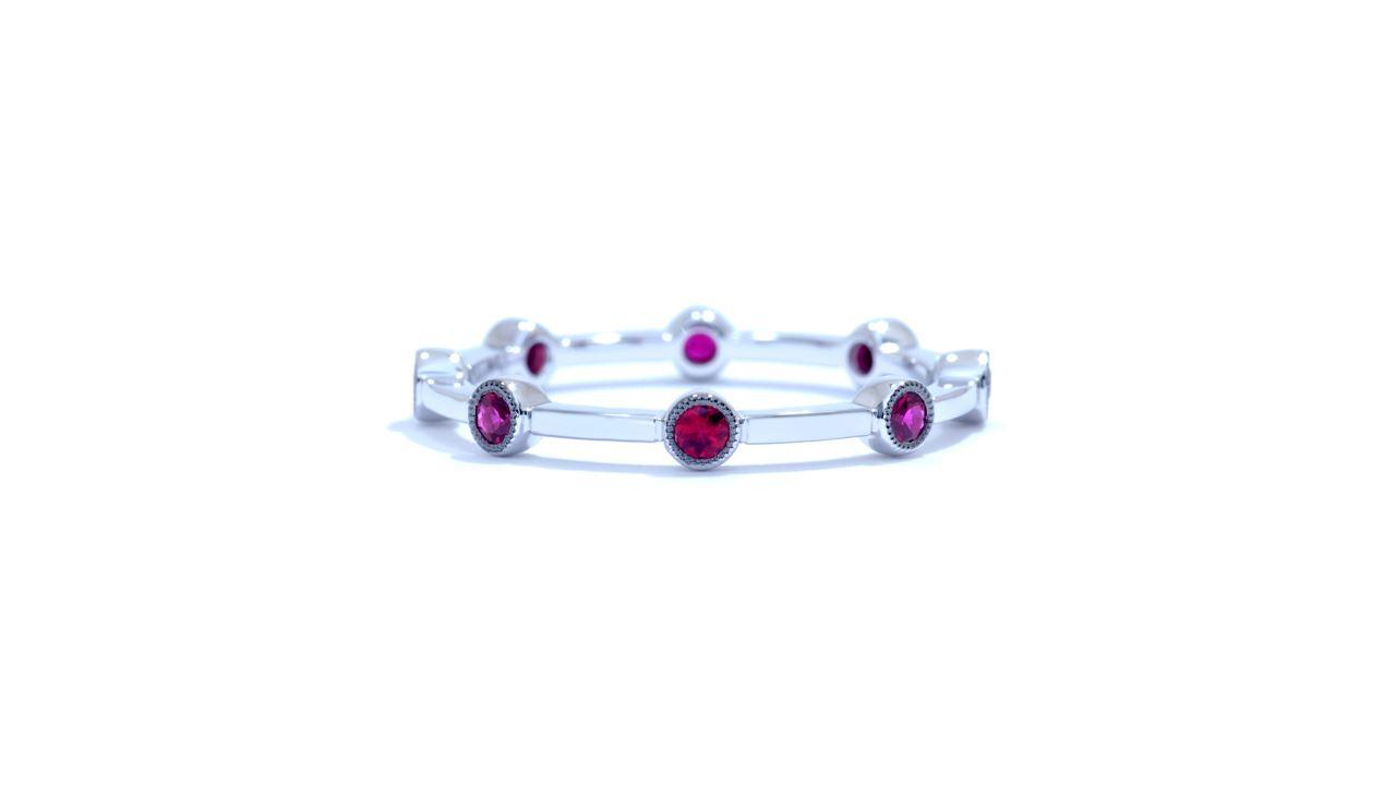 ja3245 - Ruby Wedding Band 0.30 ct. tw. (in 18k white gold) at Ascot Diamonds
