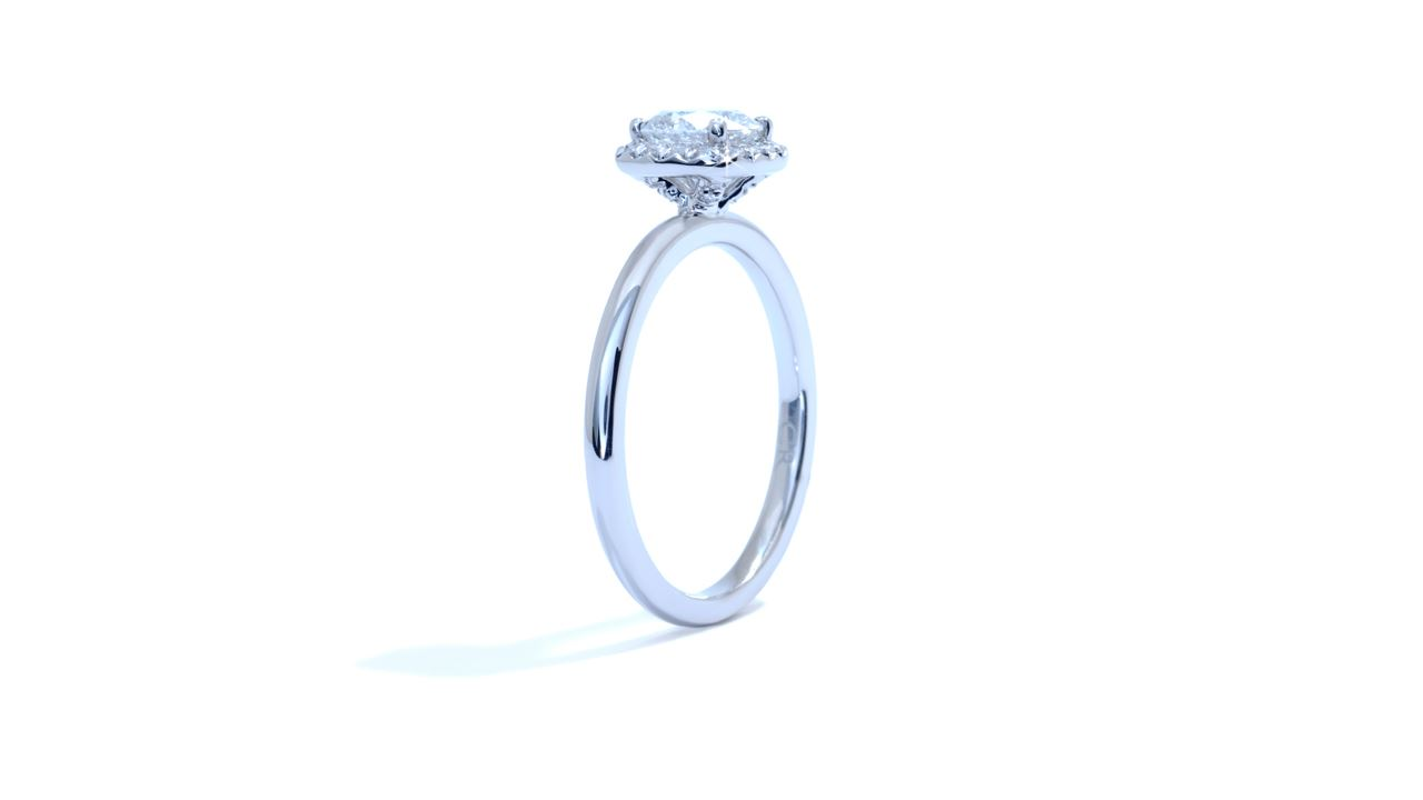 ja3512_d4989 - Cushion Halo Diamond Engagement Ring at Ascot Diamonds