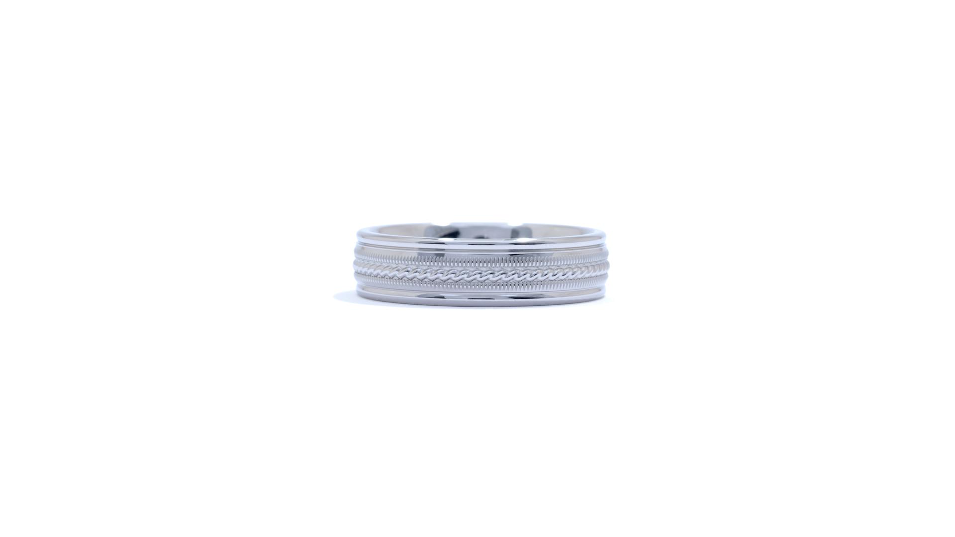 ja3689 - Rope and Millgrain Men's Wedding Band at Ascot Diamonds