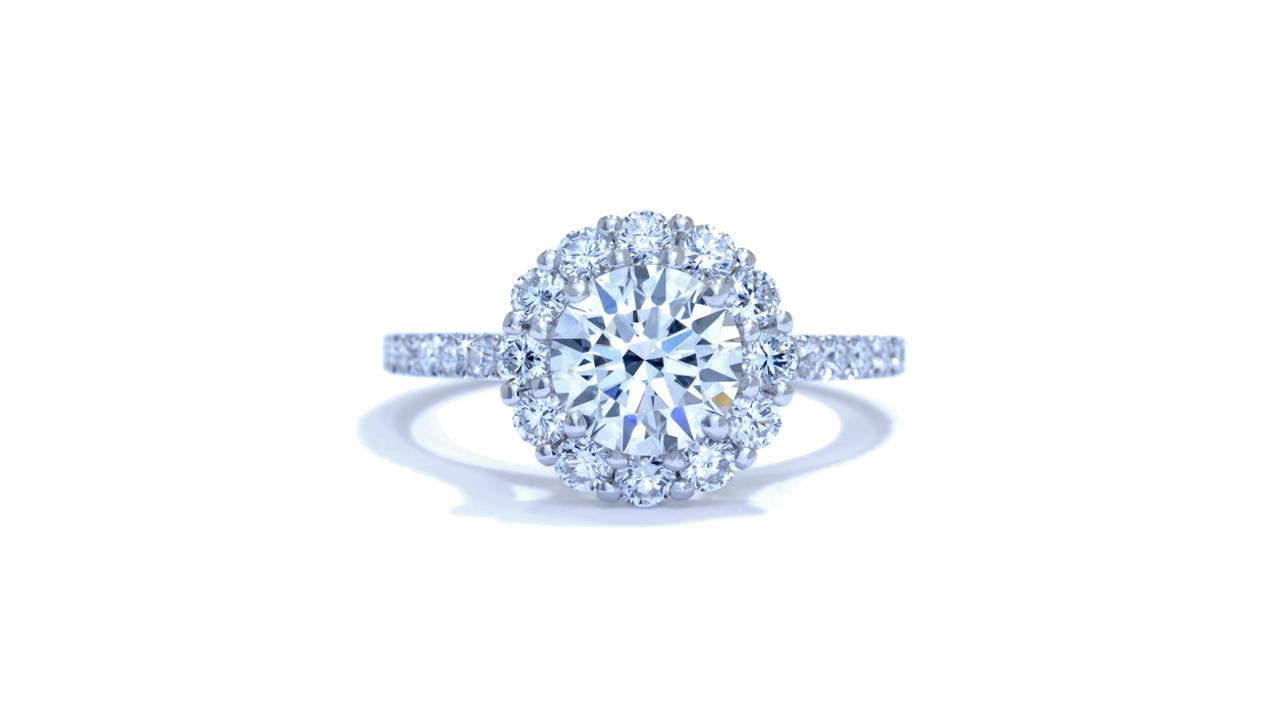 ja3776_d5249 - French-Set Diamond Halo Engagement Ring at Ascot Diamonds