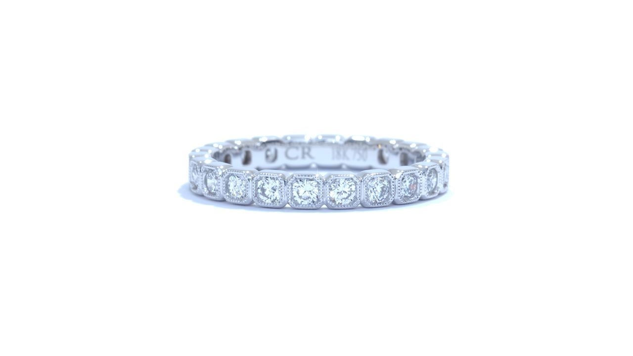 ja3883 - Vintage Diamond Stackable Band 0.81 ct. tw. (in 18k white gold) at Ascot Diamonds