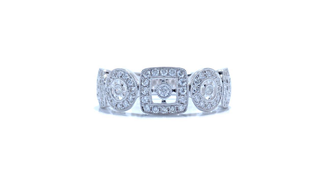 ja4098 - 0.46ct. Art-Deco Micropave Diamond Band at Ascot Diamonds