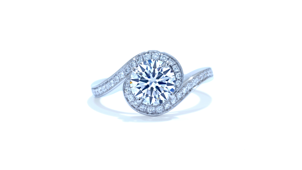 ja4223_d6218 - Custom Halo Diamond Engagement Ring at Ascot Diamonds