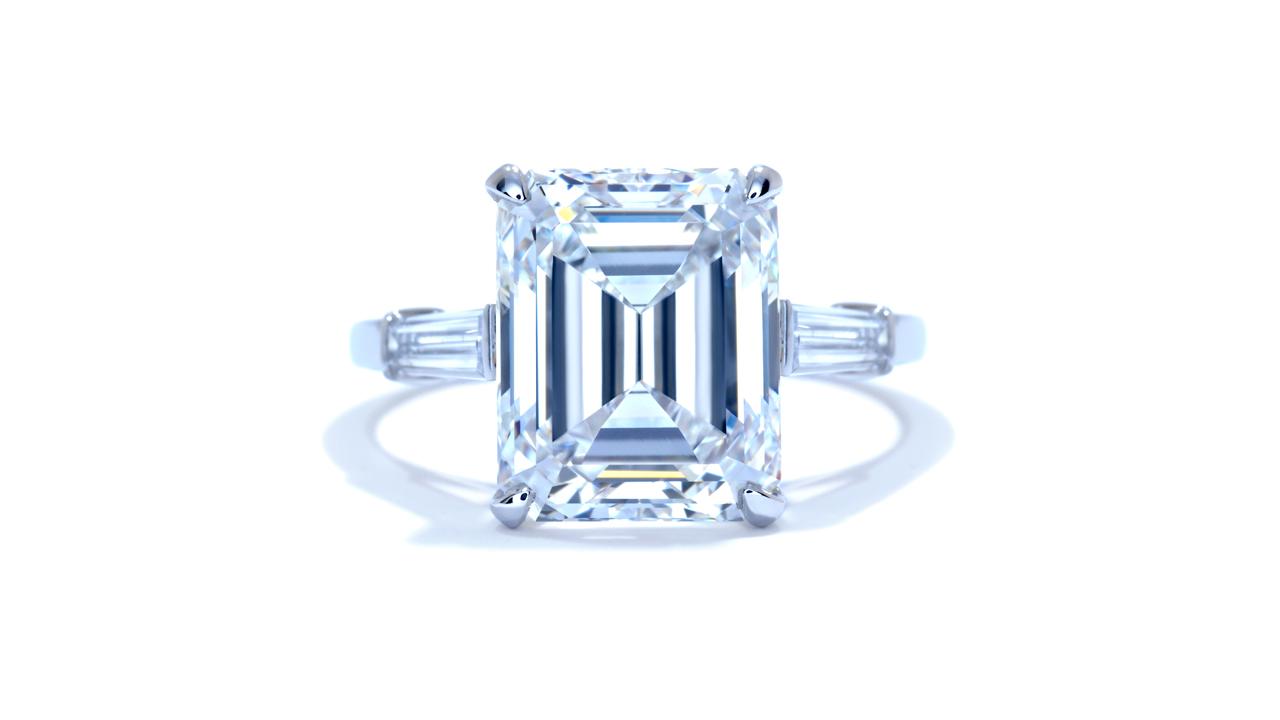 ja4253_d1781b - 6.06 ct Emerald Cut Diamond Engagement Ring at Ascot Diamonds