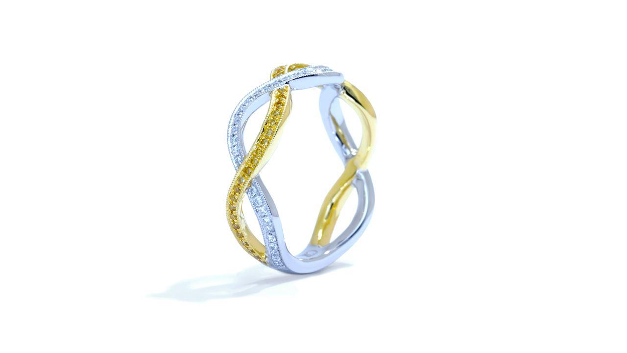 ja4892 -  Braided  Micropave Diamond Ring 0.33 ctw. at Ascot Diamonds
