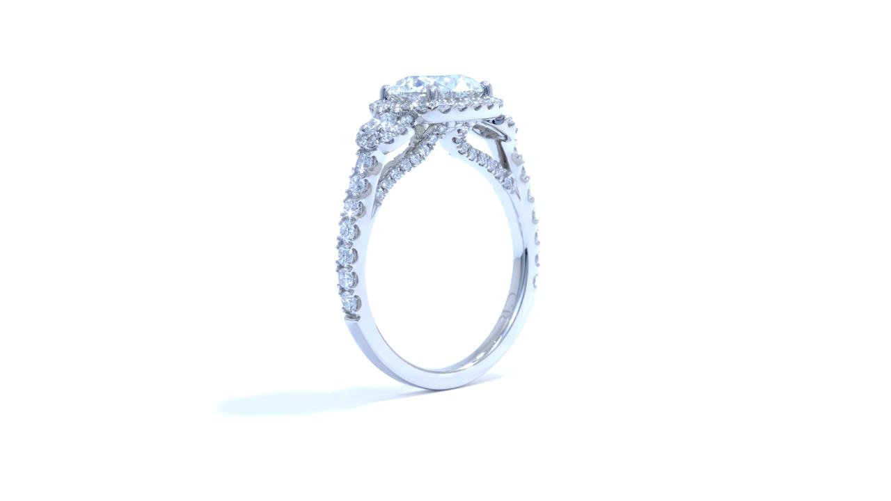 ja4947_d5738 - Unique 1.41ct. Cushion Halo Diamond Ring at Ascot Diamonds