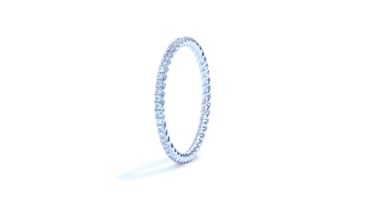 ja4953 - Twisted Diamond Eternity Wedding Ring at Ascot Diamonds
