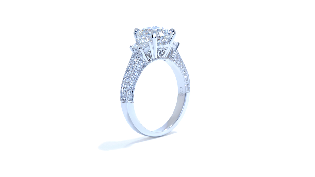 ja5080_lgd1109 - 2 carat Round Lab Created Diamond Ring at Ascot Diamonds