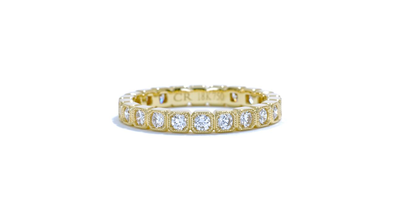 ja5082 - Vintage Diamond Stackable Band 0.81 ct. tw. (in 18k yellow gold) at Ascot Diamonds