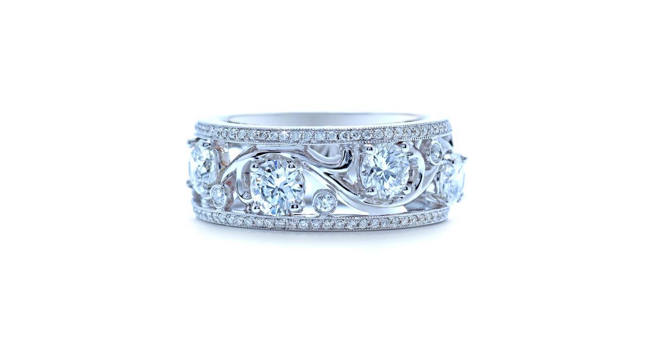 ja5298 - 1.34ct. tw. Artdeco Wide Wedding Band at Ascot Diamonds