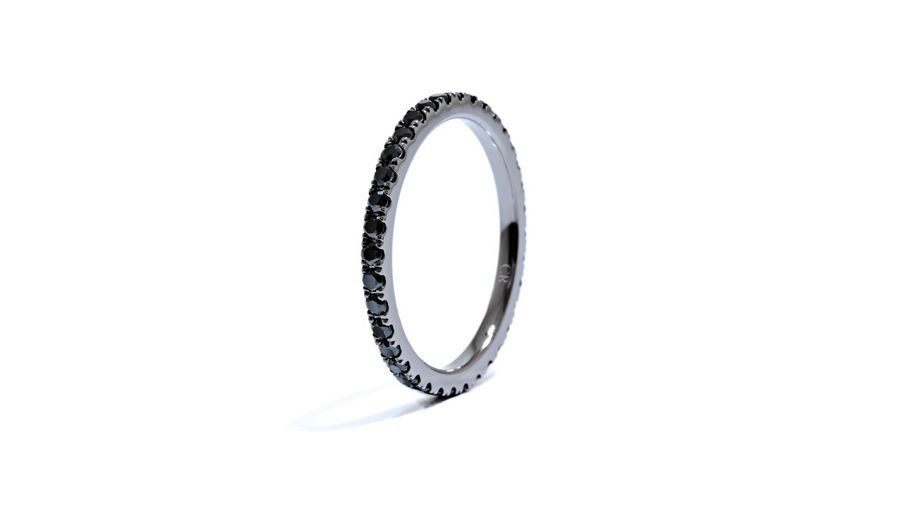 ja5440 - Eternity Black Diamond Wedding Band 0.60 ct. tw. (in 18k white) at Ascot Diamonds