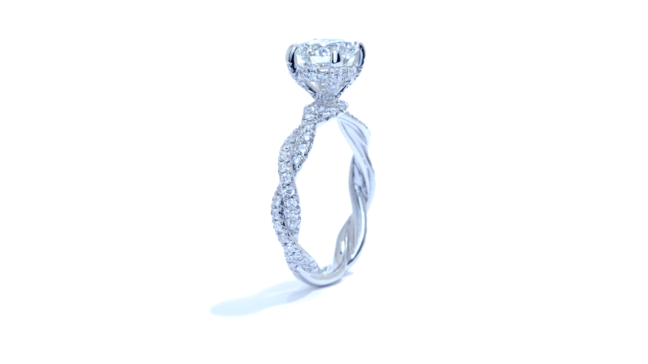 ja5544_d5269 - 1.33 ct. Solitaire Braided Band Diamond Ring at Ascot Diamonds