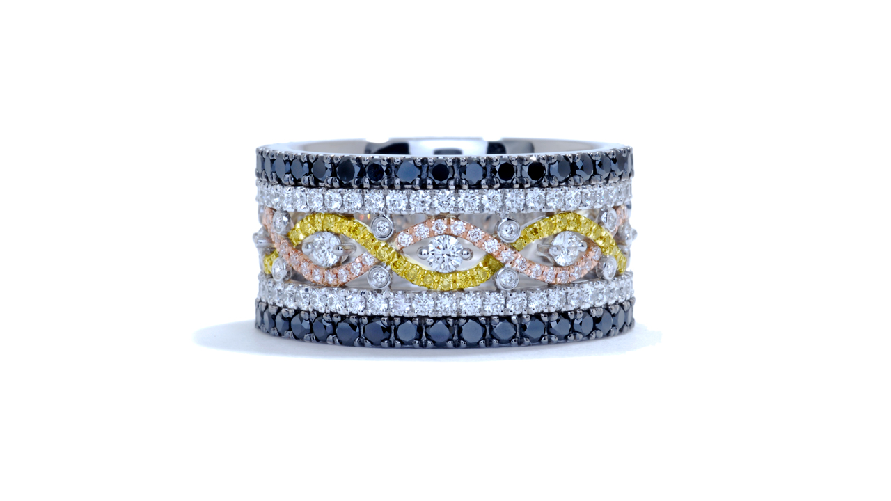 ja5703 - Fancy Color Anniversary Band at Ascot Diamonds