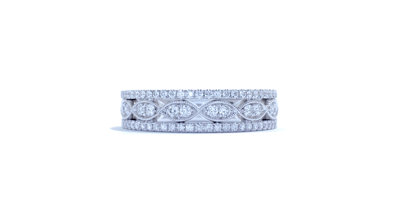 ja5934 - Ladies Marquise Shape Pattern Diamond Band at Ascot Diamonds