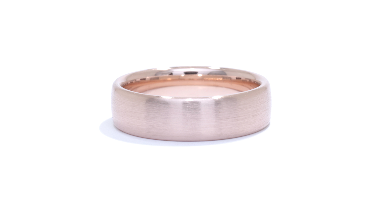 ja5996 - Men's Rose Gold Wedding Band at Ascot Diamonds