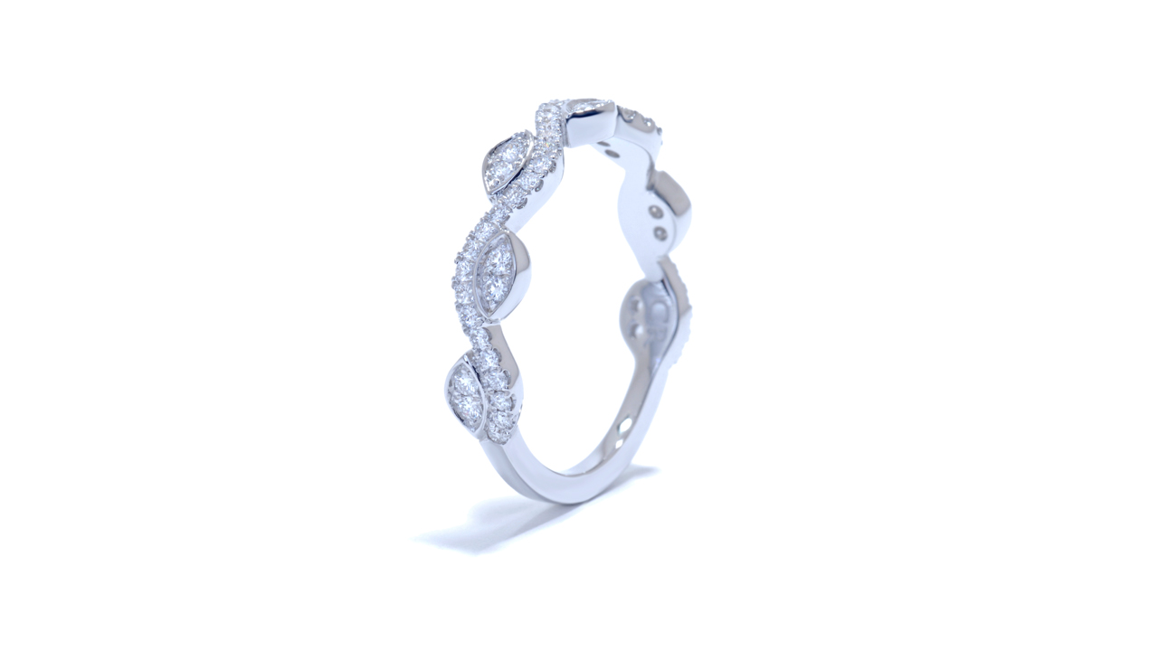 ja6203 - Leaf Wedding Diamond Band 0.31 ct. tw. (in 18k white gold) at Ascot Diamonds