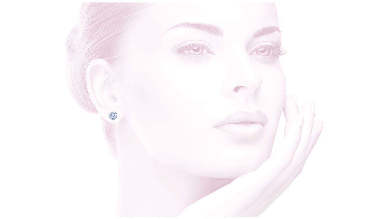 ja6454 - Round Halo Stud Earrings at Ascot Diamonds