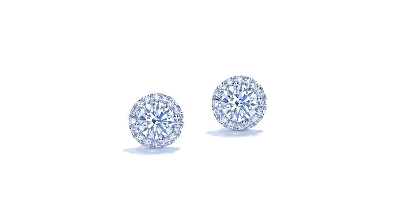 ja6456 - 0.93 ctw. Round Diamond Halo Earrings  at Ascot Diamonds