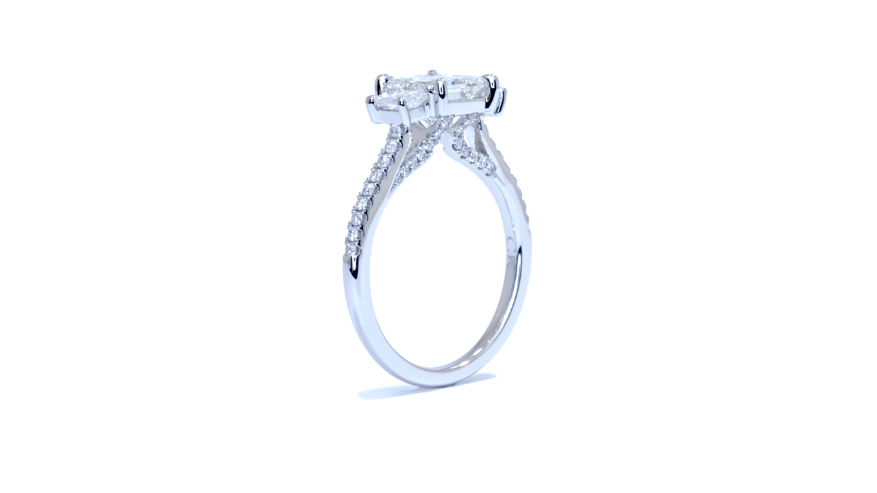 ja6557_d6470 - Modern 3 Stone Diamond Engagement Ring at Ascot Diamonds