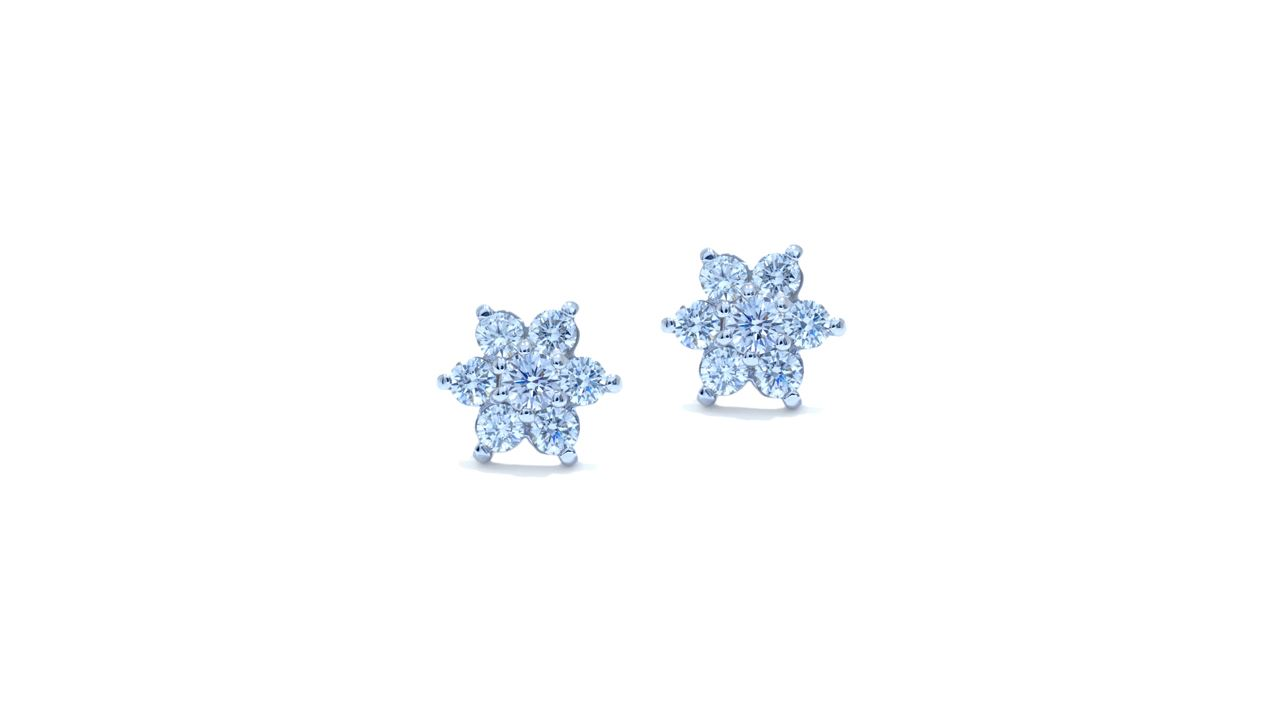 ja6677 - Florets Diamond Earrings at Ascot Diamonds