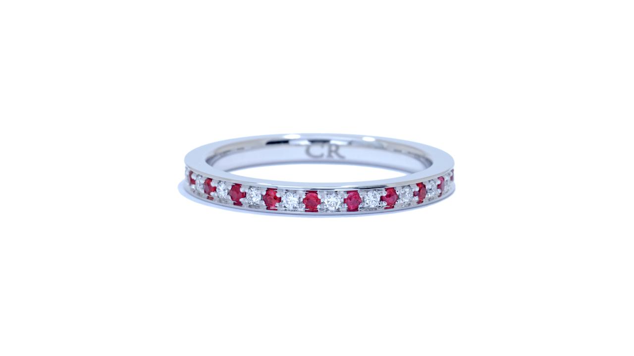 ja6903 - 0.37 ctw. Diamond and Ruby Eternity Band  at Ascot Diamonds