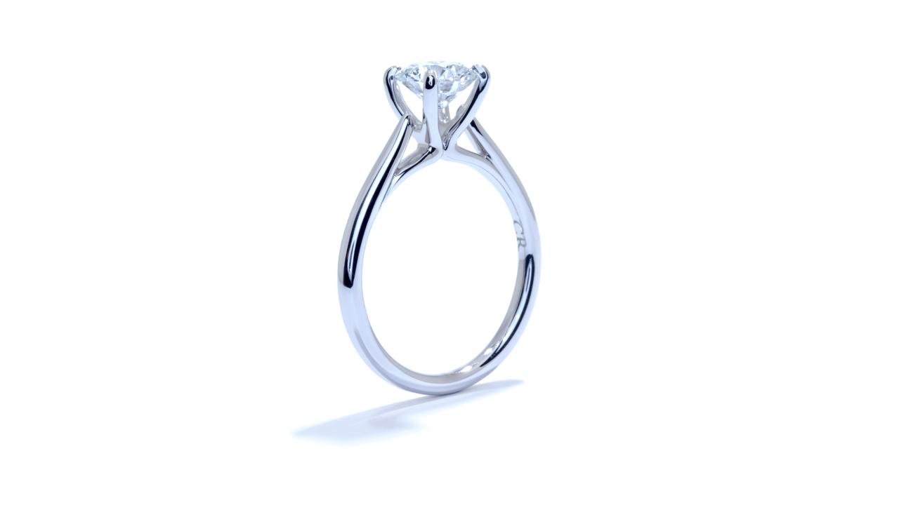 ja6904_lgd1036 - Round Cut Lab Diamond Engagement Ring at Ascot Diamonds