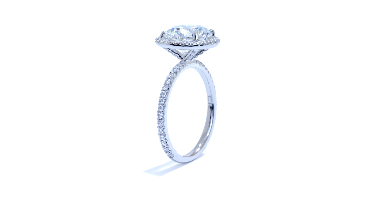 ja6978_d6127 - 3 ct Round Diamond Ring | Halo Style at Ascot Diamonds
