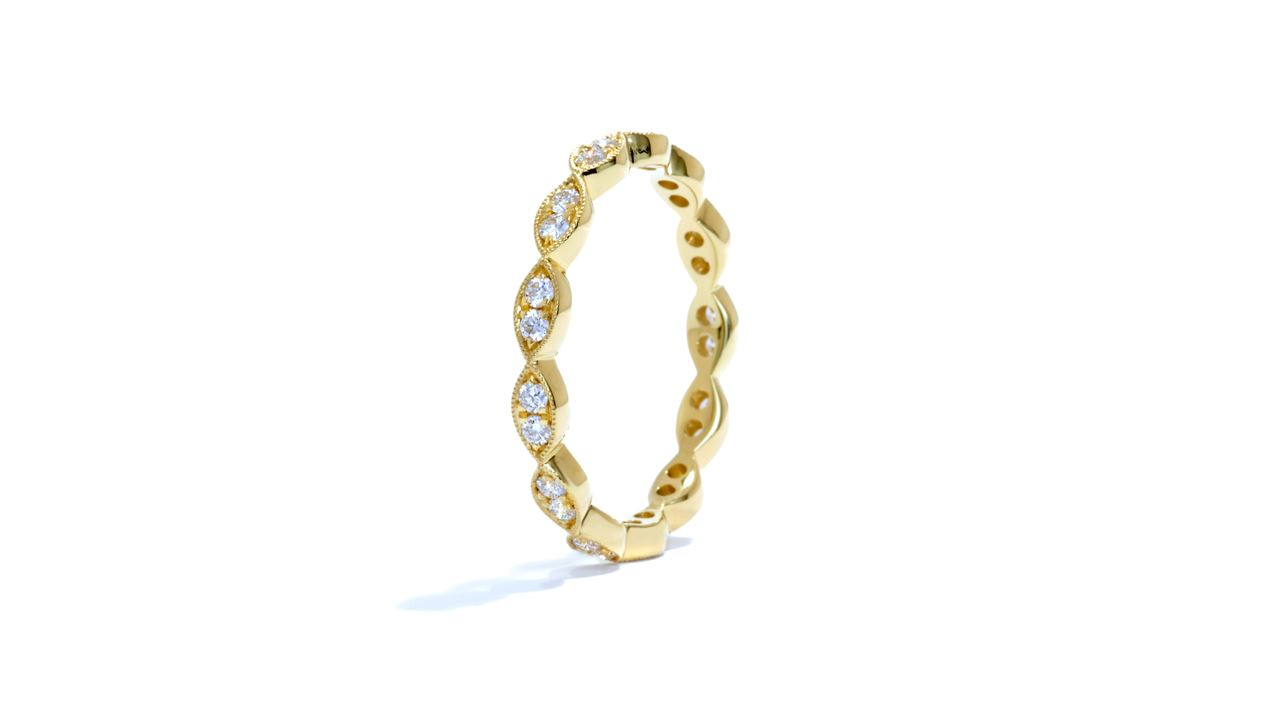 ja7057 - Stacking Diamond Wedding Band 0.33 ct. tw. (in 18k yellow gold) at Ascot Diamonds