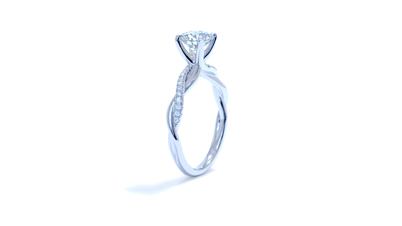 ja7061_d5977 - Braided Diamond Engagement Ring at Ascot Diamonds