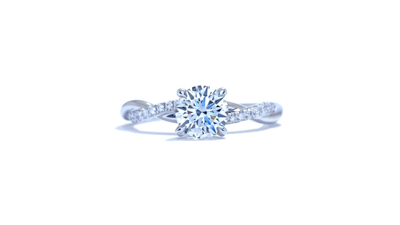 ja7063_lgd1529 - 1.2 ct. Braided Diamond Engagement Ring at Ascot Diamonds