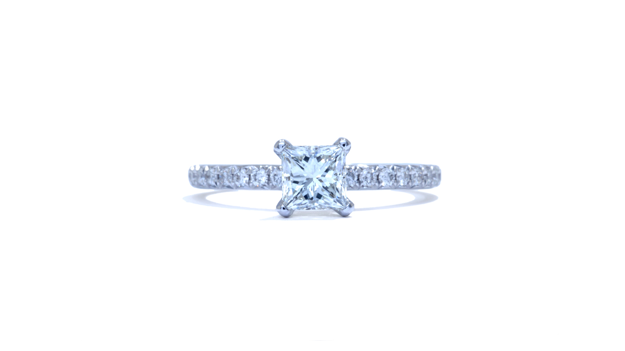ja7182_d6404 - Delicate Princess Cut Diamond Solitaire Ring at Ascot Diamonds