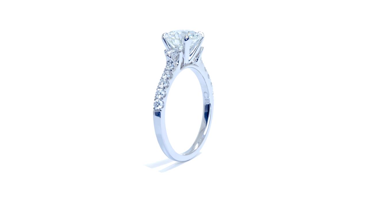 ja7284_lgd1395 - Lab Grown Round Diamond Engagment Ring at Ascot Diamonds