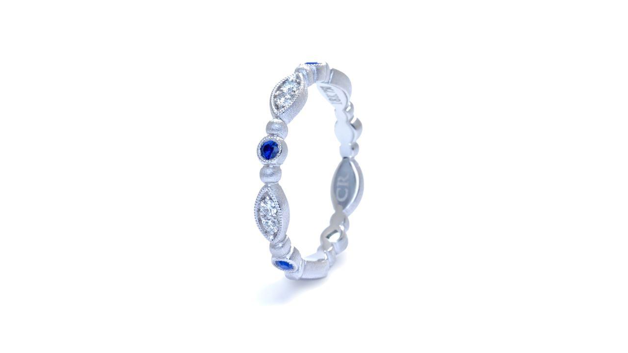 ja7314 - Stacking Diamond and Sapphire Band at Ascot Diamonds