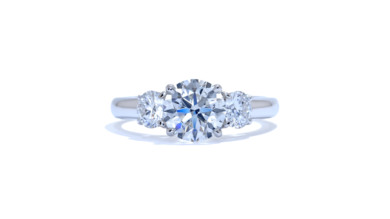 ja7321_d5523 - Three Round Cut Diamond Engagement Ring at Ascot Diamonds